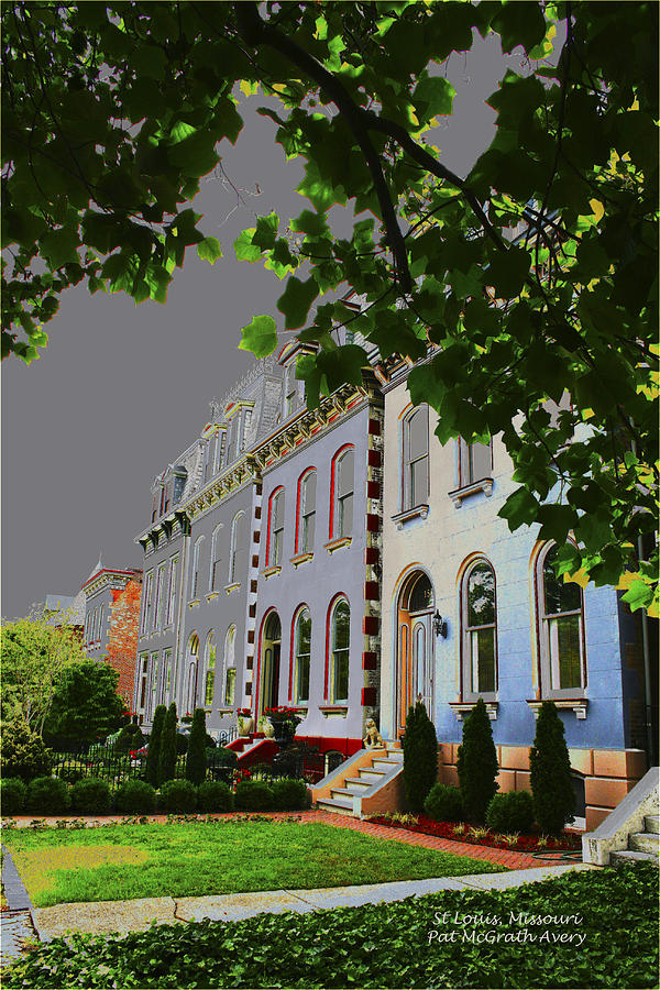 St Louis Photograph - St Louis Homes by Pat McGrath Avery