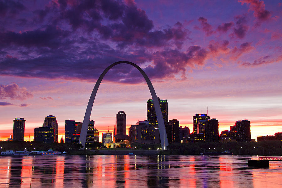 Sunset Ford St Louis >> St Louis Sunset Photograph by Garry McMichael