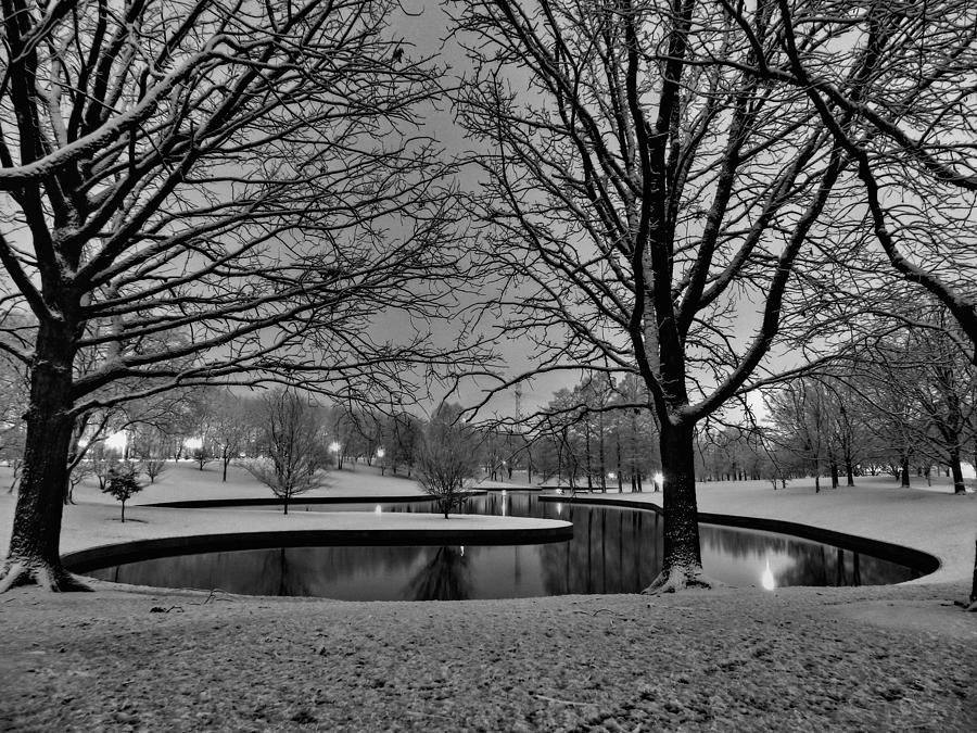 Park Photograph - St. Louis - Winter At The Arch 001 by Lance Vaughn