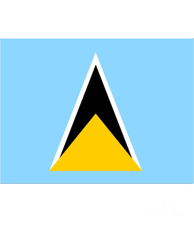St. Lucia Digital Art - St. Lucia Flag by Frederick Holiday