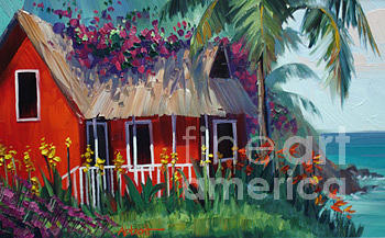 St. Lucia Painting by Jason Abbott
