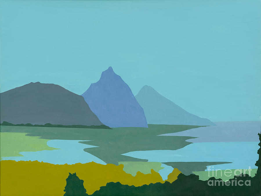 Blue Painting - St. Lucia - W. Indies II by Elisabeta Hermann