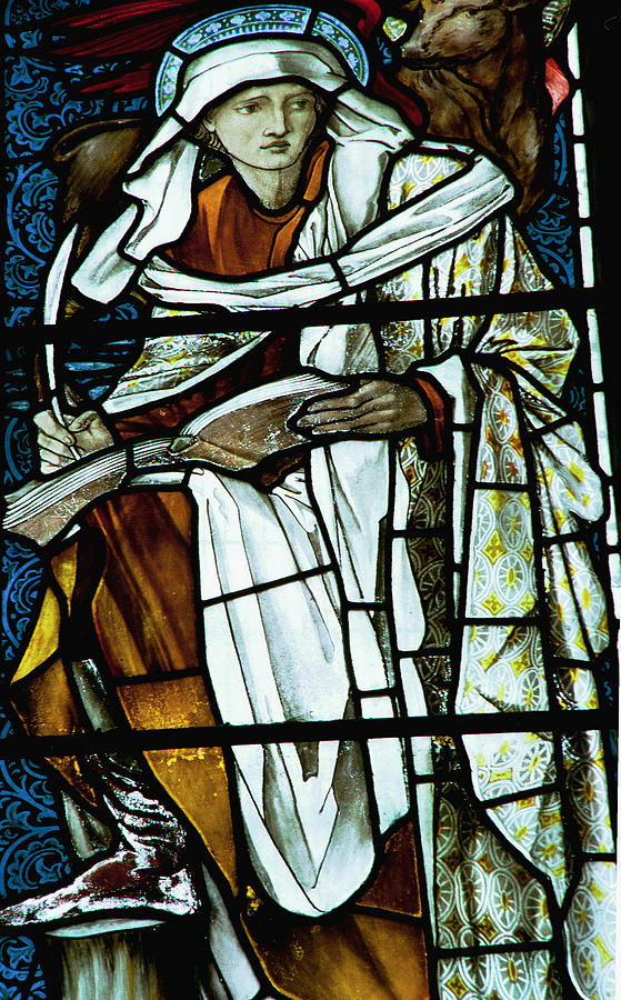 Saint Photograph - St Luke In Stained Glass by Philip Ralley