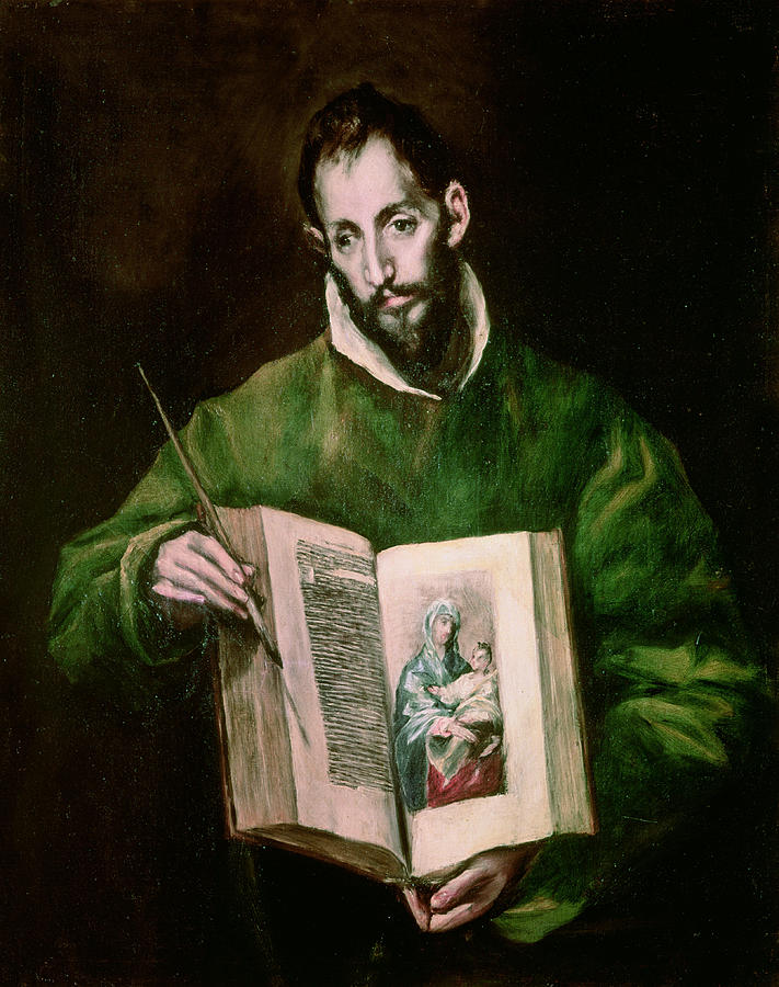 El Greco Painting - Saint Luke  by El Greco