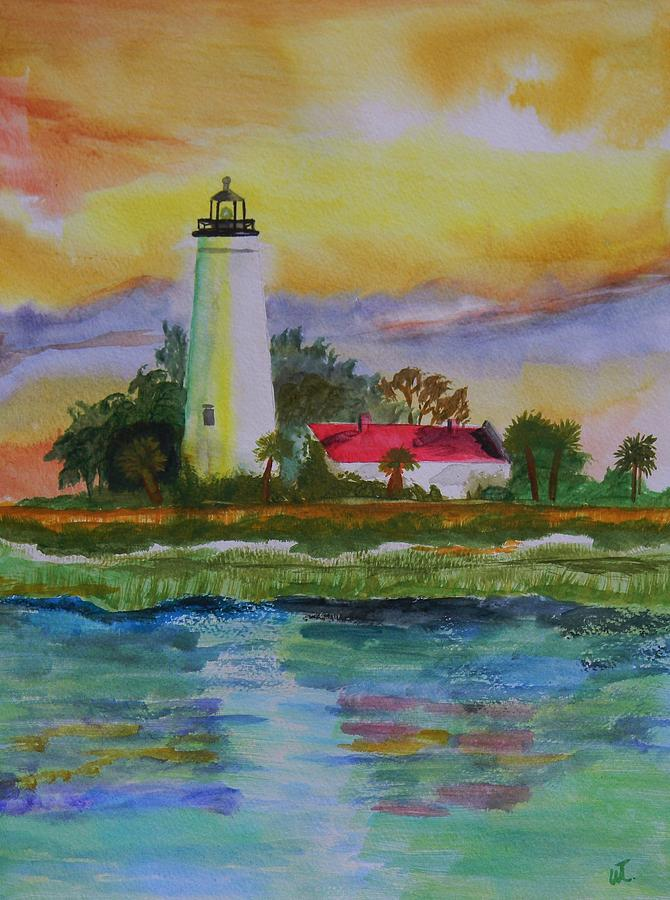 Landscape Painting - St. Marks Lighthouse-2 by Warren Thompson