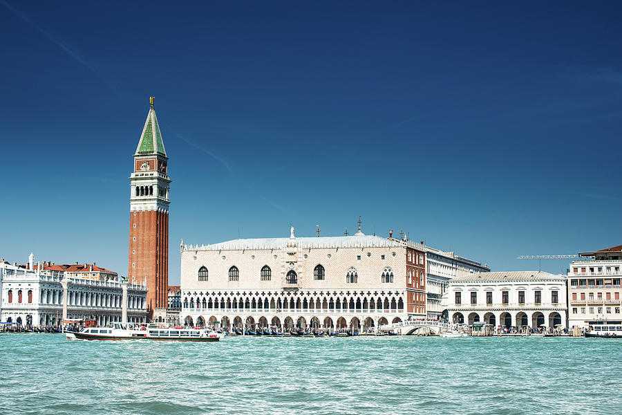 St Marks Square With Venice Skyline Photograph by Franckreporter