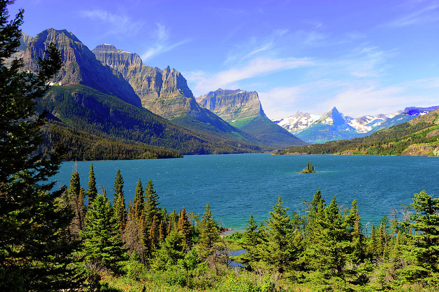 St. Mary Lake,  Glacier National Park Photograph by Dennis Macdonald