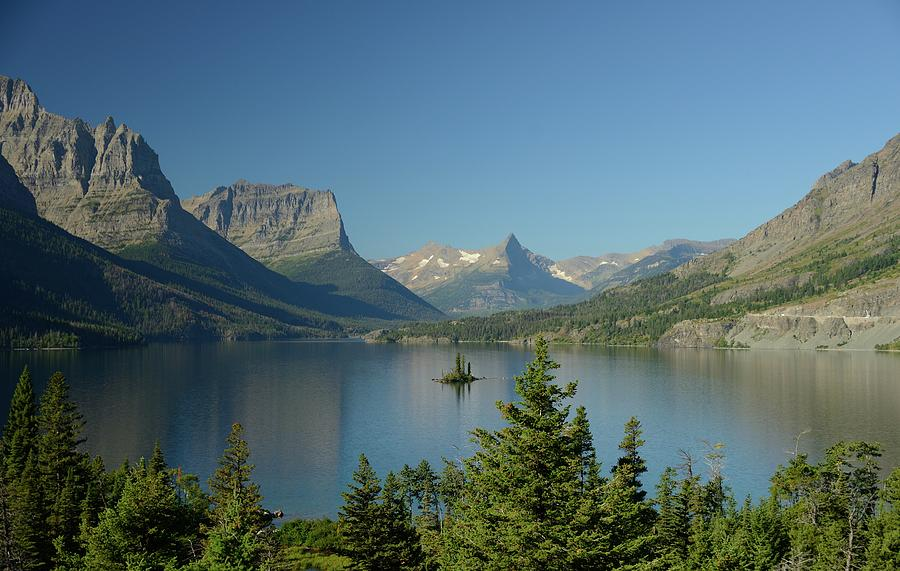 St. Mary Lake With Wild Goose Island Photograph by Sandy L. Kirkner