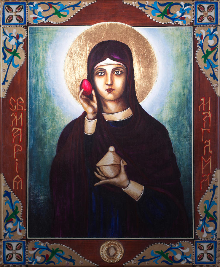 Icon Painting - St. Mary Magdalene  by Fr Barney Deane