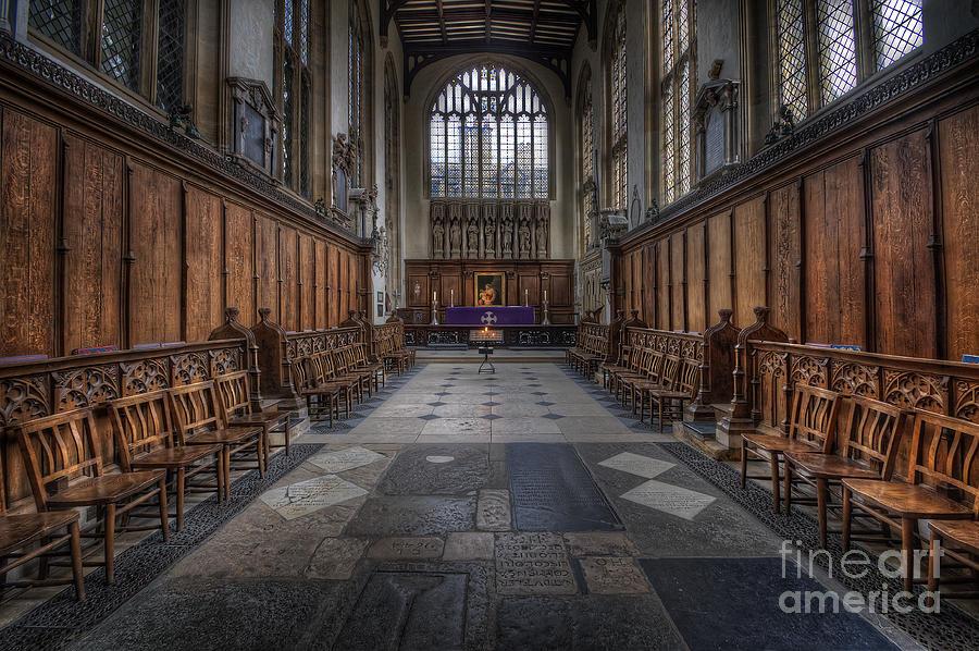 Oxford Photograph - St Mary The Virgin Church - Choir And Altar by Yhun Suarez