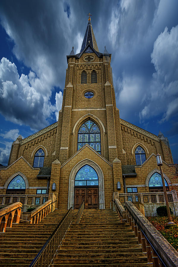 Cathedral Photograph - St. Marys Cathedral  by Regina  Williams