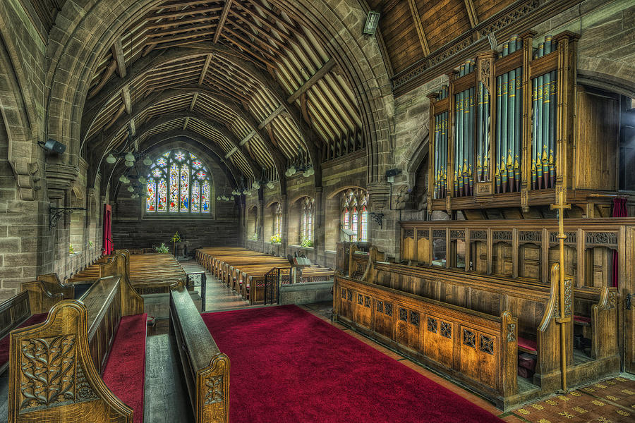 Cathedral Photograph - St Marys Church Organ by Ian Mitchell