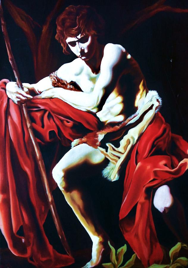 Oil Painting Of St. Matthew Painting - St. Matthew by Carl Baker