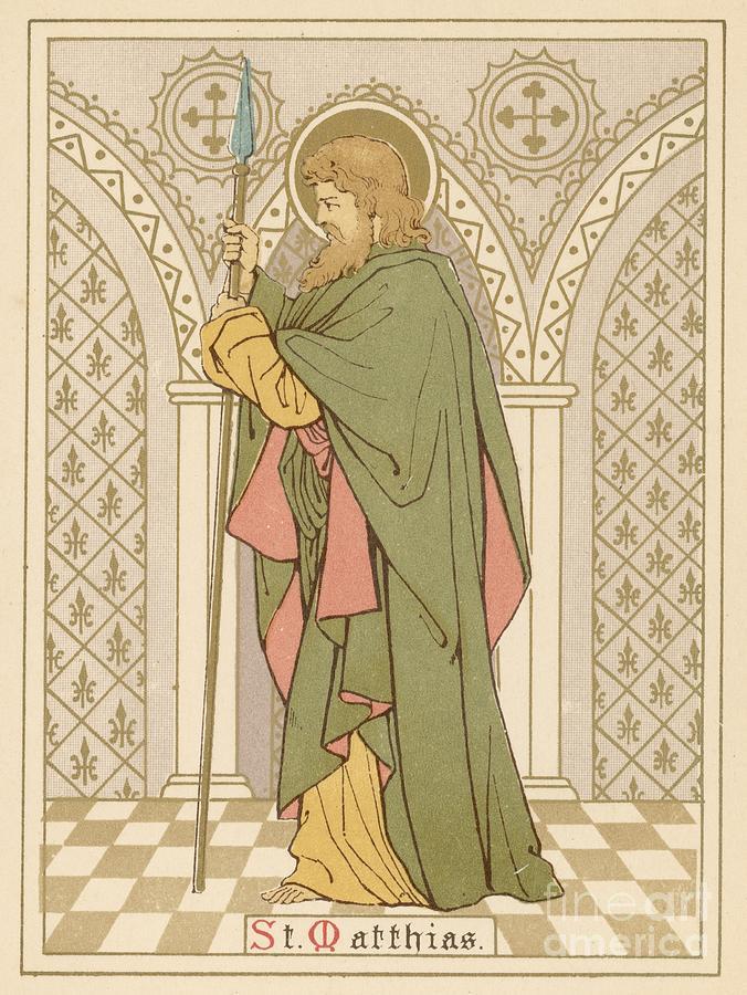 Saint Painting - St Matthias by English School