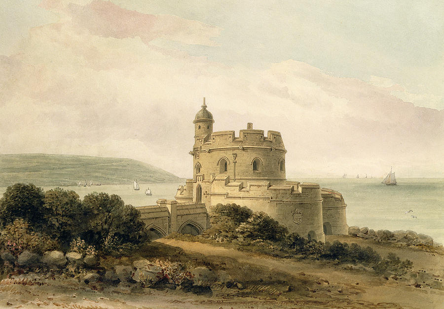 Saint Painting - St Mawes Castle by John Chessell Buckler