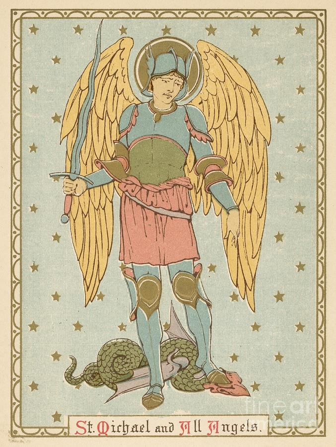 Saint Painting - St Michael And All Angels By English School by English School