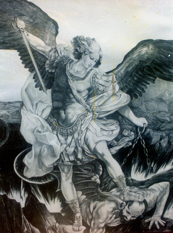 It is an image of Lucrative St Michael The Archangel Drawing