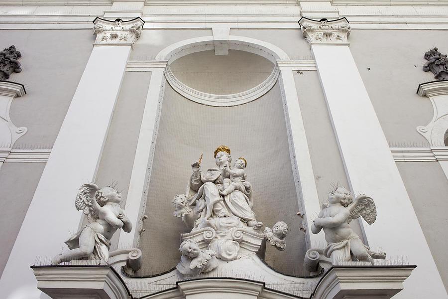 Michael Photograph - St Michael Church Sculptures In Budapest by Artur Bogacki