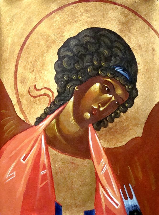 Icon Painting - St. Michael by Joseph Malham