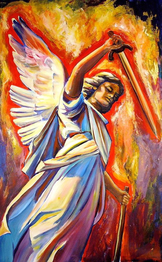 St. Michael The Archangel Painting - St. Michael by Sheila Diemert