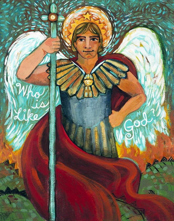 St. Michael the Archangel Painting by Jen Norton