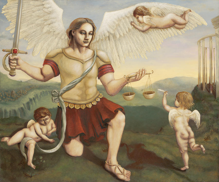 St. Michael The Archangel Painting - St. Michael The Archangel by Shelley Irish