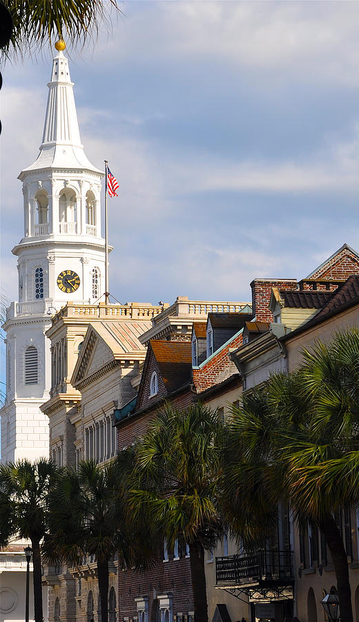 Charleston Photograph - St Michaels Church by Lori Kesten