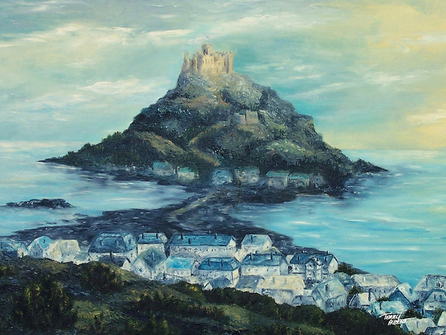 St Michale's Mount Painting - St. Michaels Mount by Terry Albert