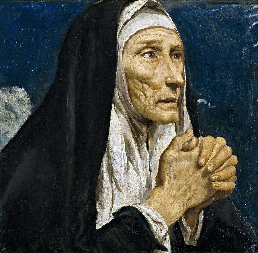 Luis Tristan De Escamilla Painting - St Monica by Luis Tristan de Escamilla