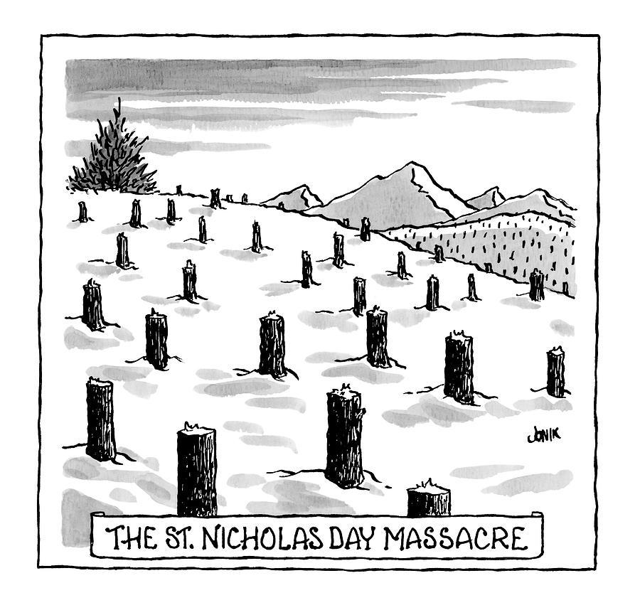 st. Nicholas Day Massacre Drawing by John Jonik