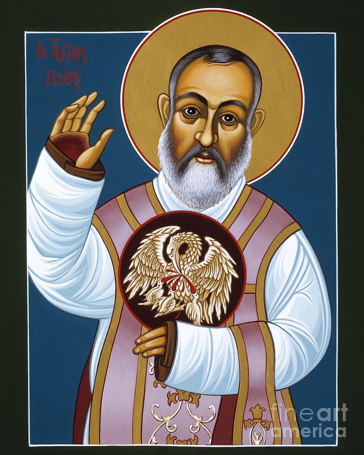 St. Padre Pio Painting - St. Padre Pio Mother Pelican 047 by William Hart McNichols