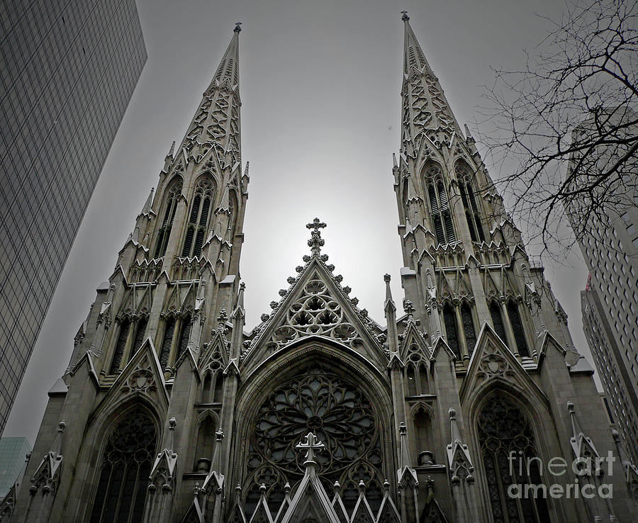 Cathedral Photograph - St. Patricks Cathedral  by Angela Wright