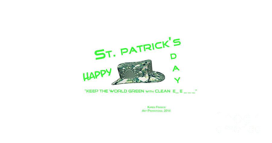 St. Patrick Digital Art - St. Patricks Day Memphis 3d by Karen Francis