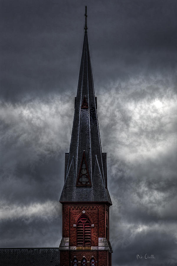 Lewiston Photograph - St. Patricks Spire  by Bob Orsillo