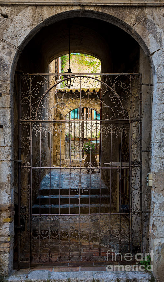 Alpes-maritimes Photograph - St Paul Courtyard by Inge Johnsson