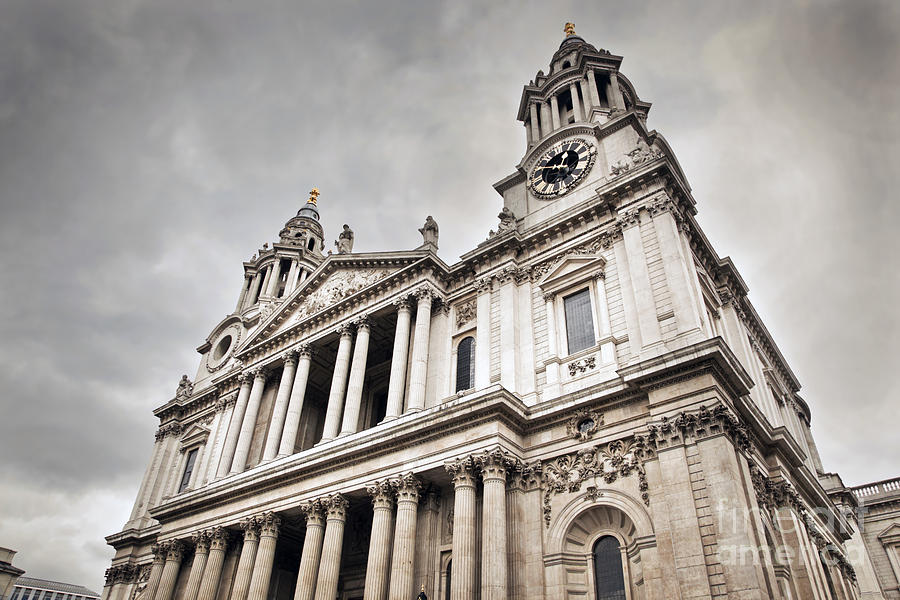 London Photograph - St Pauls Cathedral In London Uk by Michal Bednarek