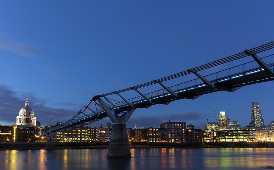 St Pauls Millennium Bridge River Thames Photograph by Future Light