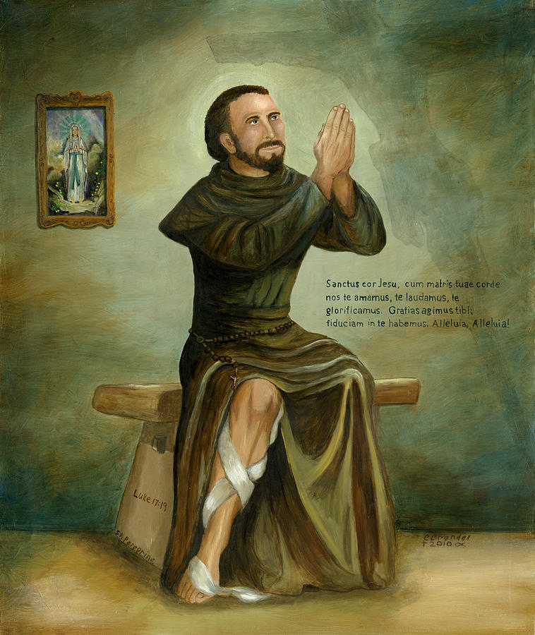 St Peregrine Painting by Cecilia Brendel