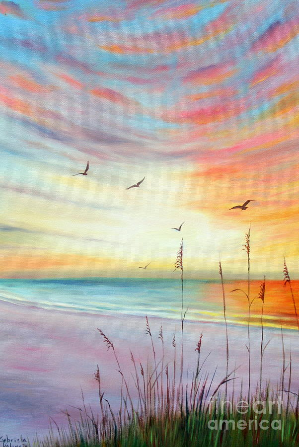 St. Pete Beach Sunset Painting by Gabriela Valencia