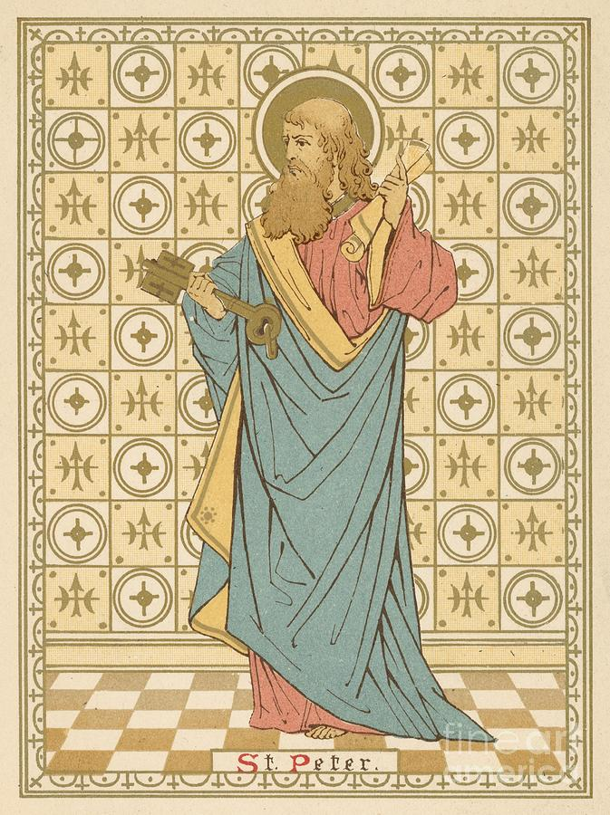 Saint Painting - St Peter by English School