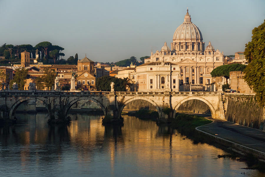 St Peter Morning Glow - Impressions Of Rome by Georgia Mizuleva