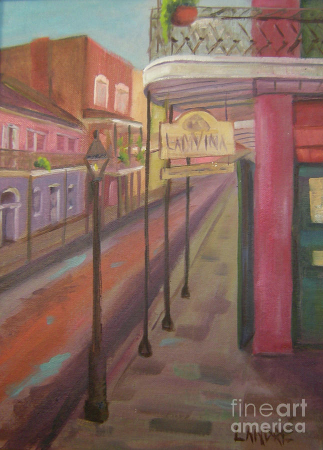 New Orleans Painting - St. Peter Street by Lilibeth Andre