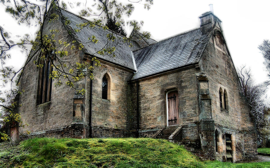 Heavenfield Photograph - St. Peters at Newbrough 7 by Cindy Nunn