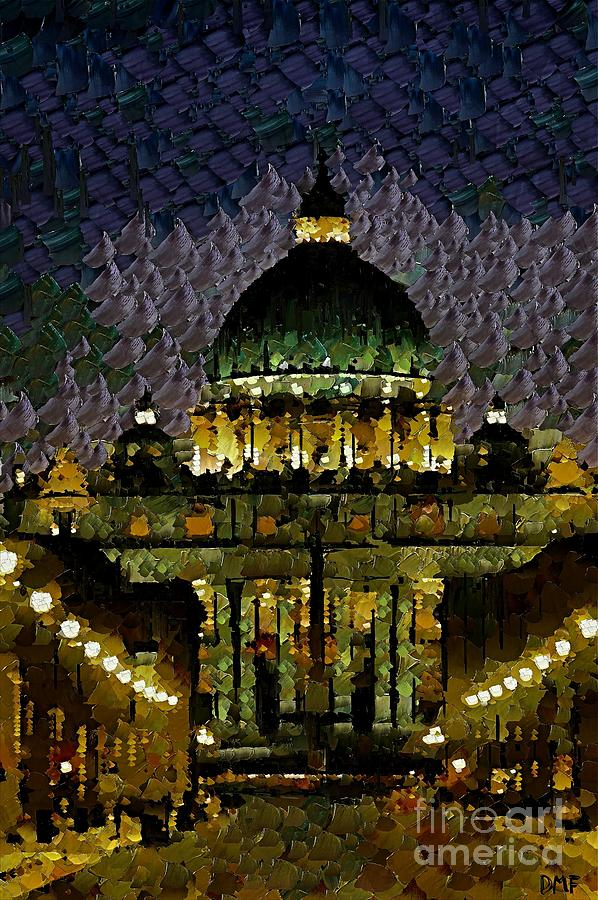 Cityscape Painting - St. Peters Basilica by Dragica  Micki Fortuna