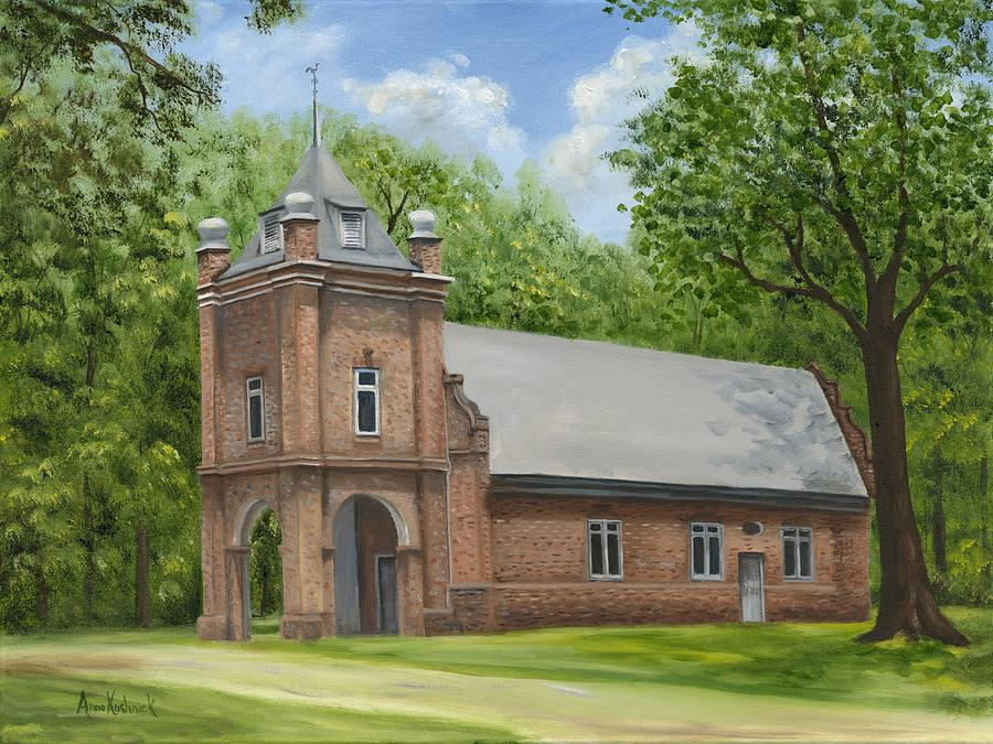 Virginia Churches Painting - St. Peters Church by Anne Kushnick