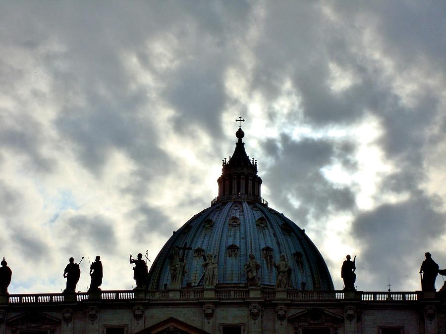 Rome Photograph - St. Peters Dome  by Natalya Karavay