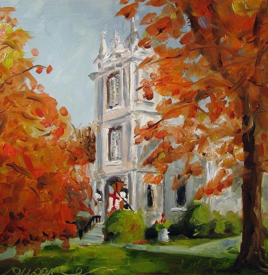 Church Painting - St Peters Episcopal Church by Susan E Jones