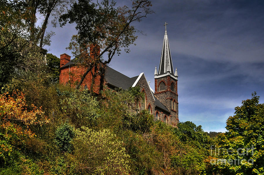 Church Photograph - St. Peters Of Harpers Ferry by Lois Bryan
