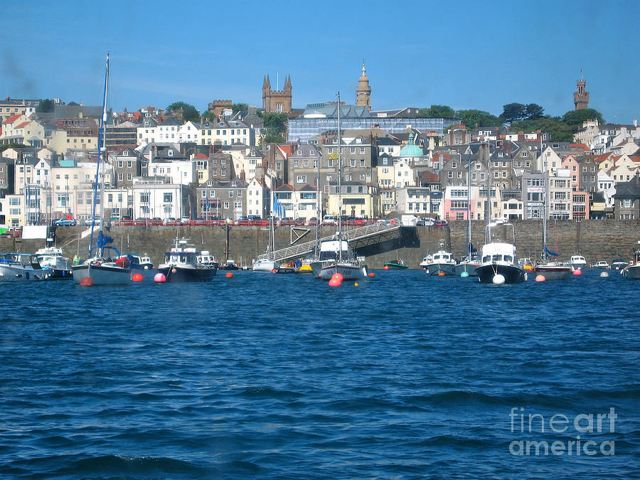 Boats Photograph - St Peters Port Guernsey  by Phyllis Kaltenbach