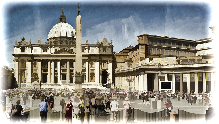 St Peters Photograph - St Peters Square - Vatican by Jon Berghoff